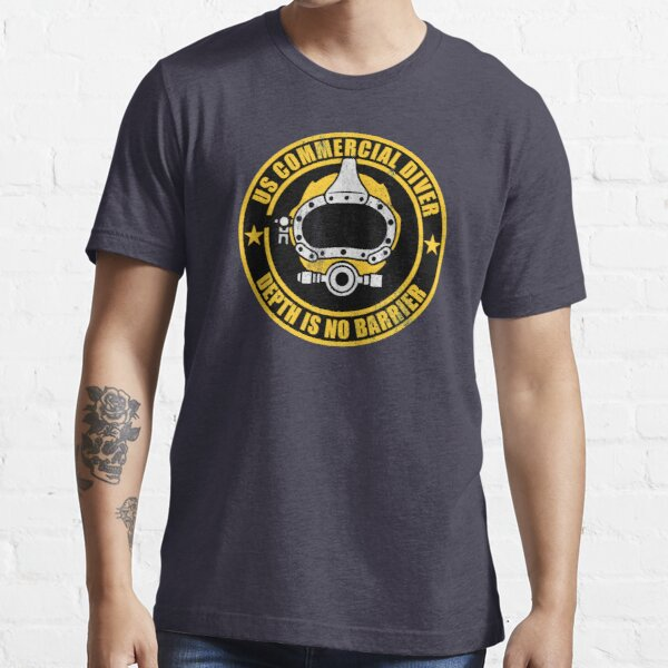 US Commercial Diver (distressed) Essential T-Shirt