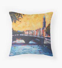 Father Mathew Bridge. Dublin Throw Pillow