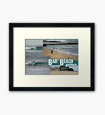 Surfing At Bar Beach Framed Print