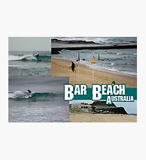 Surfing At Bar Beach Photographic Print