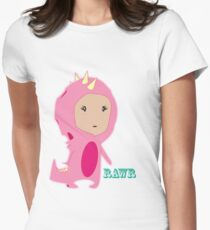 Pinky Rawr Women's Fitted T-Shirt