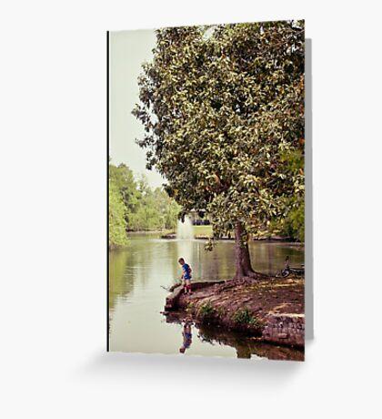 Audubon Park Lagoon Greeting Card