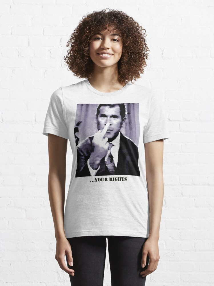 Alternate view of George W. Bush gives the finger Essential T-Shirt