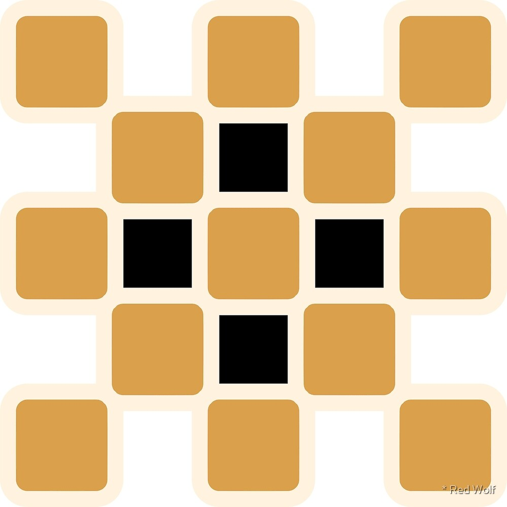 Geometric Pattern: Rounded Weave: Cream/Gold/Black by * Red Wolf
