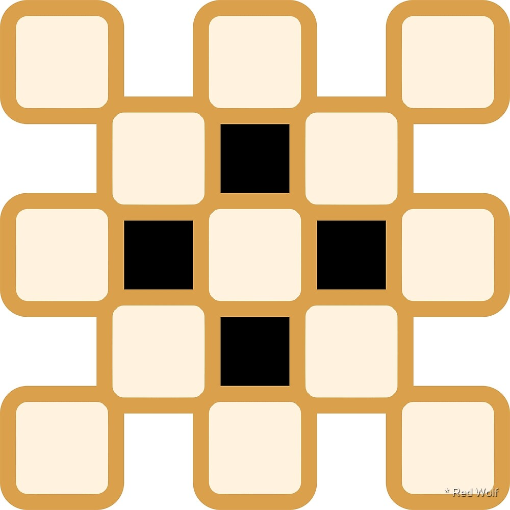 Geometric Pattern: Rounded Weave: Gold/Cream/Black by * Red Wolf