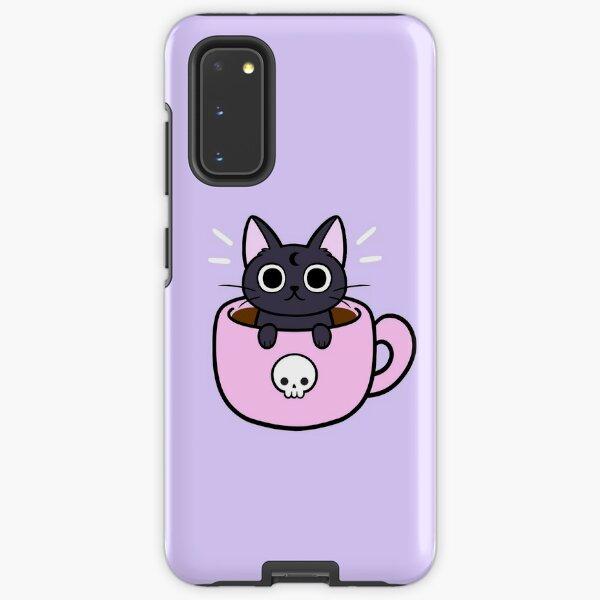 Pastel Coffee Cat Samsung Galaxy Tough Case
