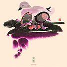 Pair of Mandarin Ducks by Thoth Adan