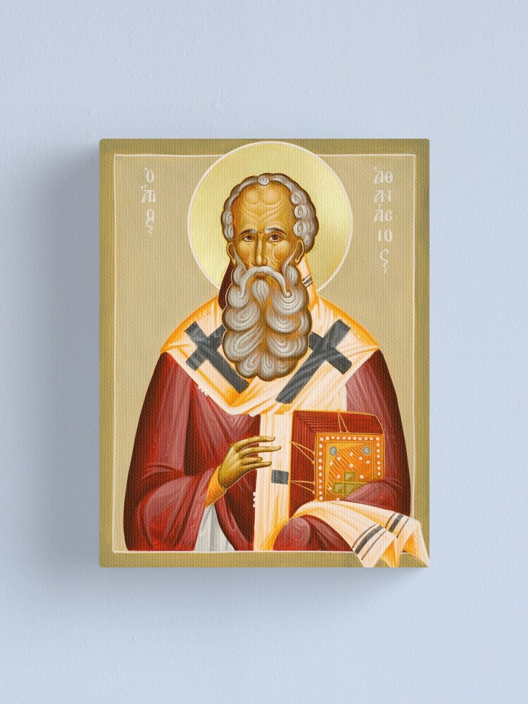 Alternate view of St Athanasios the Great Canvas Print
