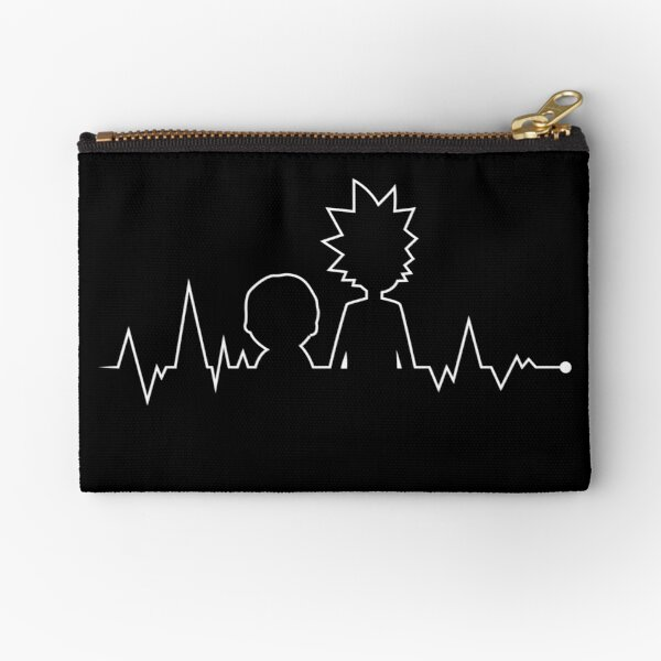Heartbeat Rick and Morty Zipper Pouch