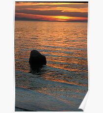 Lake Michigan Pastels Poster