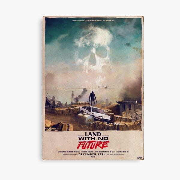VHS Glitch - Land With No Future - AE86 Canvas Print