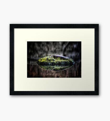 Zen Rock Framed Print