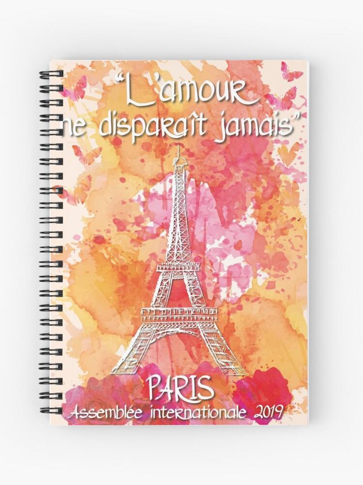 International Convention PARIS 2019 - Love never fails | Spiral Notebook