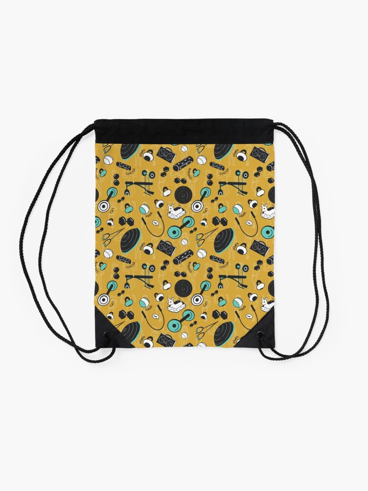 Alternate view of Strength train for days Drawstring Bag