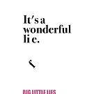 «Es la mentira / vida maravillosa - Grandes mentiras» de enami