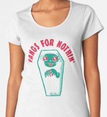 Fangs For Nothin Premium Scoop T-Shirt
