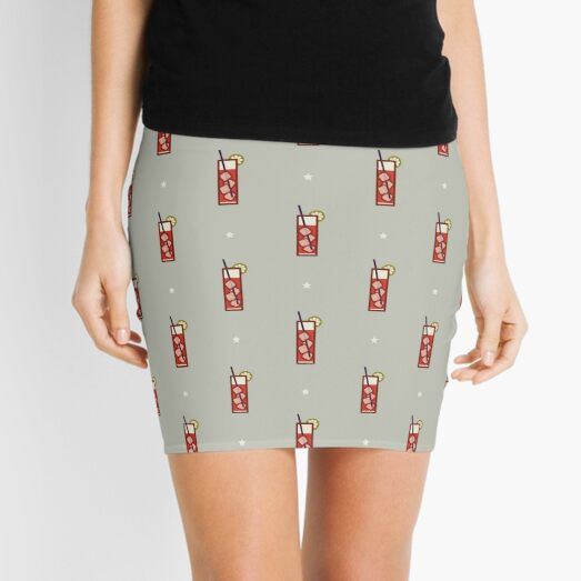 Mixed Pattern - Icon Prints: Drinks Series Mini Skirt