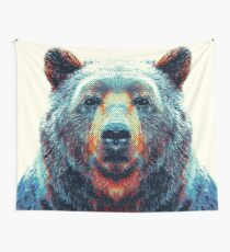 Bear - Colorful Animals Wall Tapestry