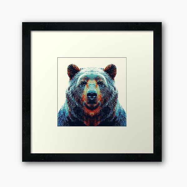 Ours - Animaux colorés Impression encadrée