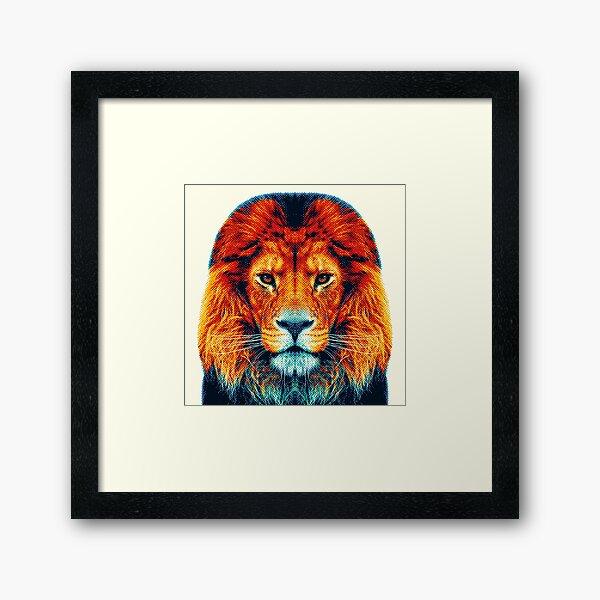 Lion - Animaux colorés Impression encadrée