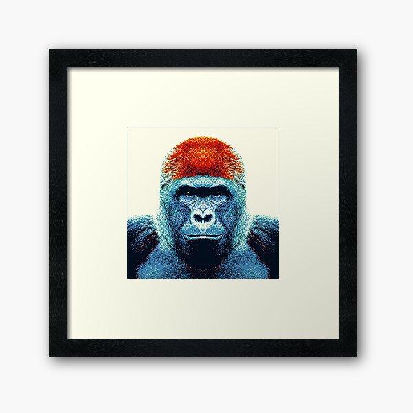 Gorille - Animaux colorés Impression encadrée
