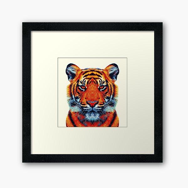 Tigre - Animaux colorés Impression encadrée