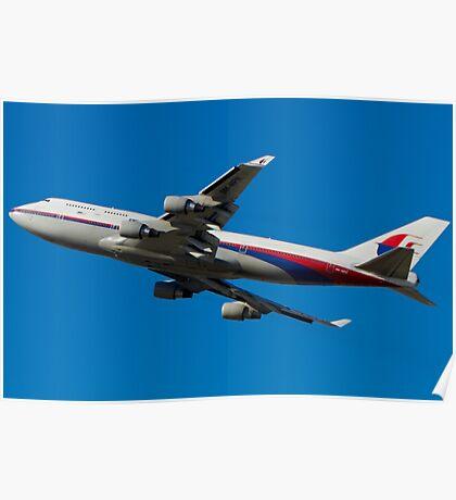 MAS Boeing 747 - Takeoff Poster