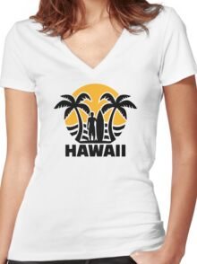 Hawaii Women's Fitted V-Neck T-Shirt