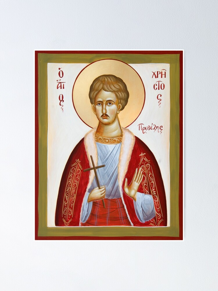 Alternate view of St Chrestos of Preveza the New Martyr Poster