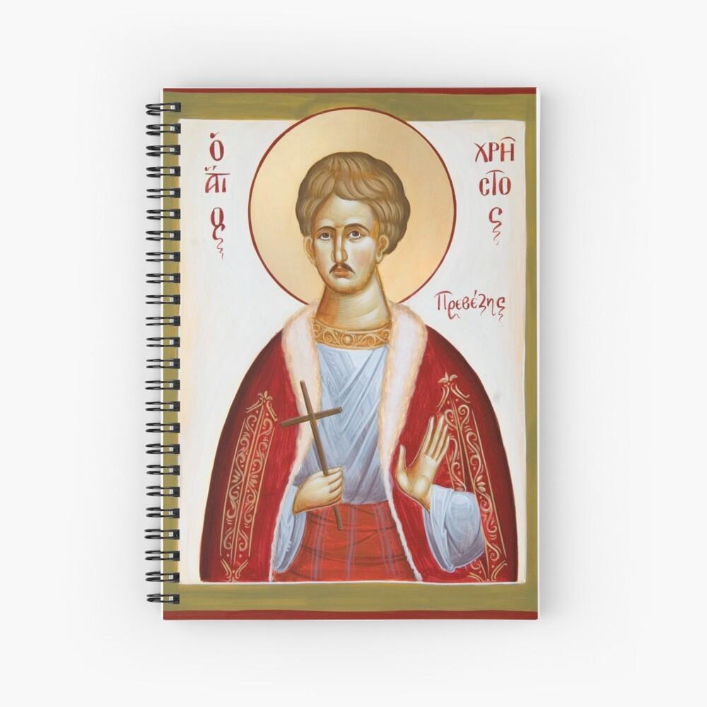 St Chrestos of Preveza the New Martyr Spiral Notebook