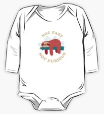 Not Fast, Not Furious Long Sleeve Baby One-Piece