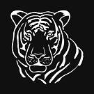 Tiger-Schattenbild-Grafik-T-Shirt von aashiarsh