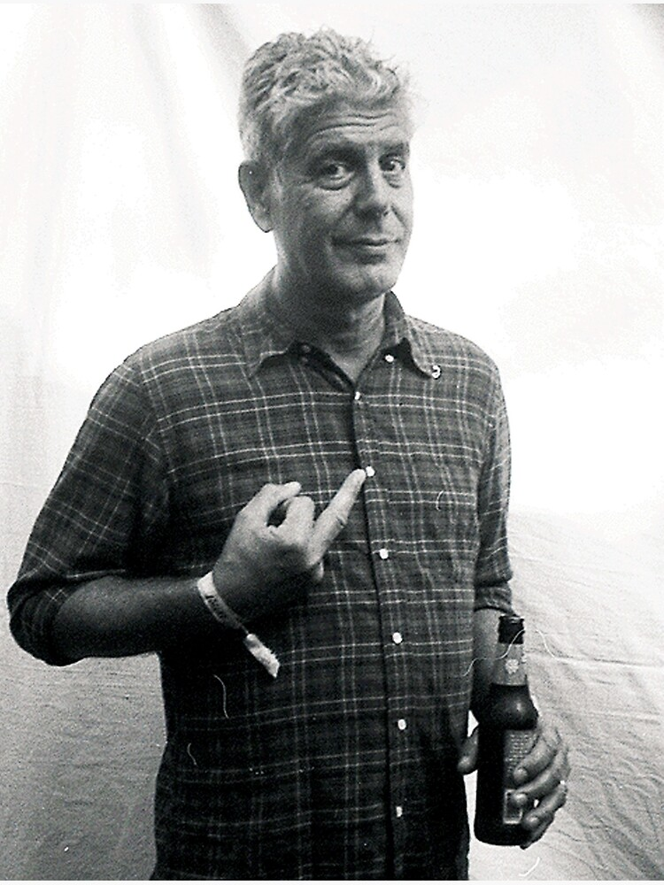Anthony Bourdain Middle Finger by Ferrazi
