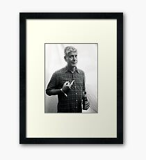 Anthony Bourdain Middle Finger Framed Print