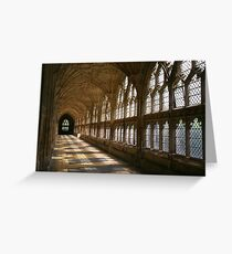Cloister Shadows, Gloucester Cathedral Greeting Card