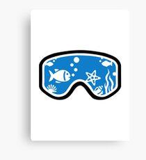 Diving goggles Canvas Print