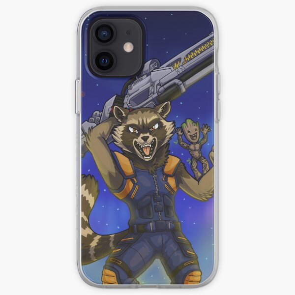 Rocket Coon iPhone Soft Case