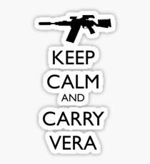 Keep Calm and Carry Vera - black text Sticker