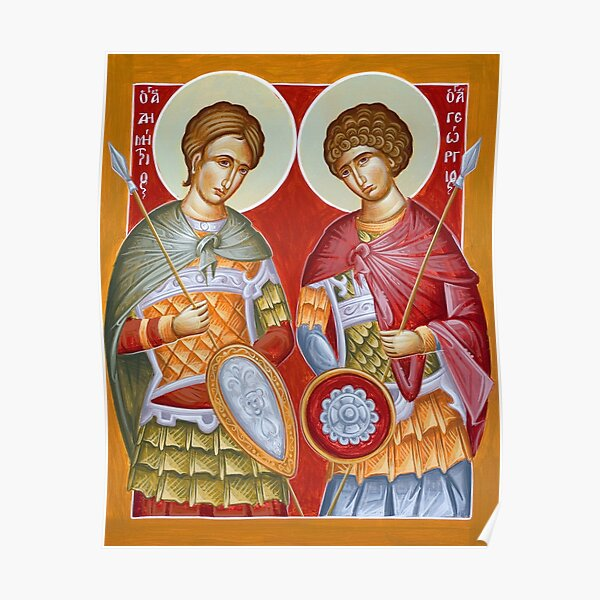 Sts Dimitrios and George Poster