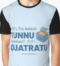 Cu Nasci Tunnu - Blue Graphic T-Shirt