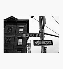 Bleecker Street, NYC Photographic Print