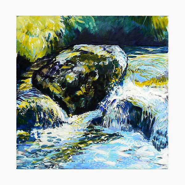 Oil study of water 2 Photographic Print