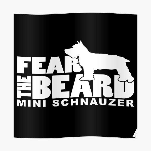 Fear the Beard - Funny Gifts for German Wirehaired Pointer Lovers Poster