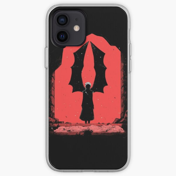 Red wings of deadh iPhone Soft Case