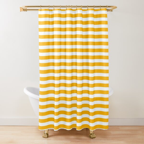 Striped Yellow Shower Curtain
