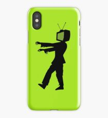 Zombie TV Guy by Chillee Wilson iPhone Case