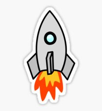 Rocket Ship 2 by Chillee Wilson Sticker
