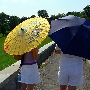 Ladies with Umbrellas by Photograph2u