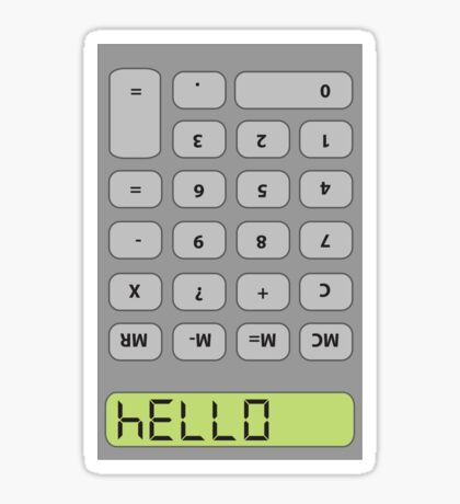 Hello! Calculator Sticker