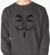Anonymous Mask T-Shirt, Hoodie, Baby Clothes & Sticker by 'Chillee Wilson' Pullover
